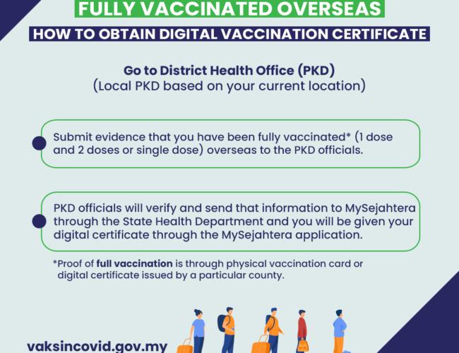 没有疫苗证书在马寸步难行?外国完成接种新冠疫苗,回国记得这样做!